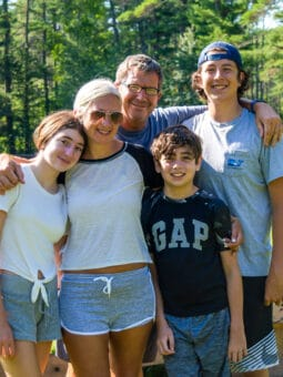 Gordon Josey with his family.