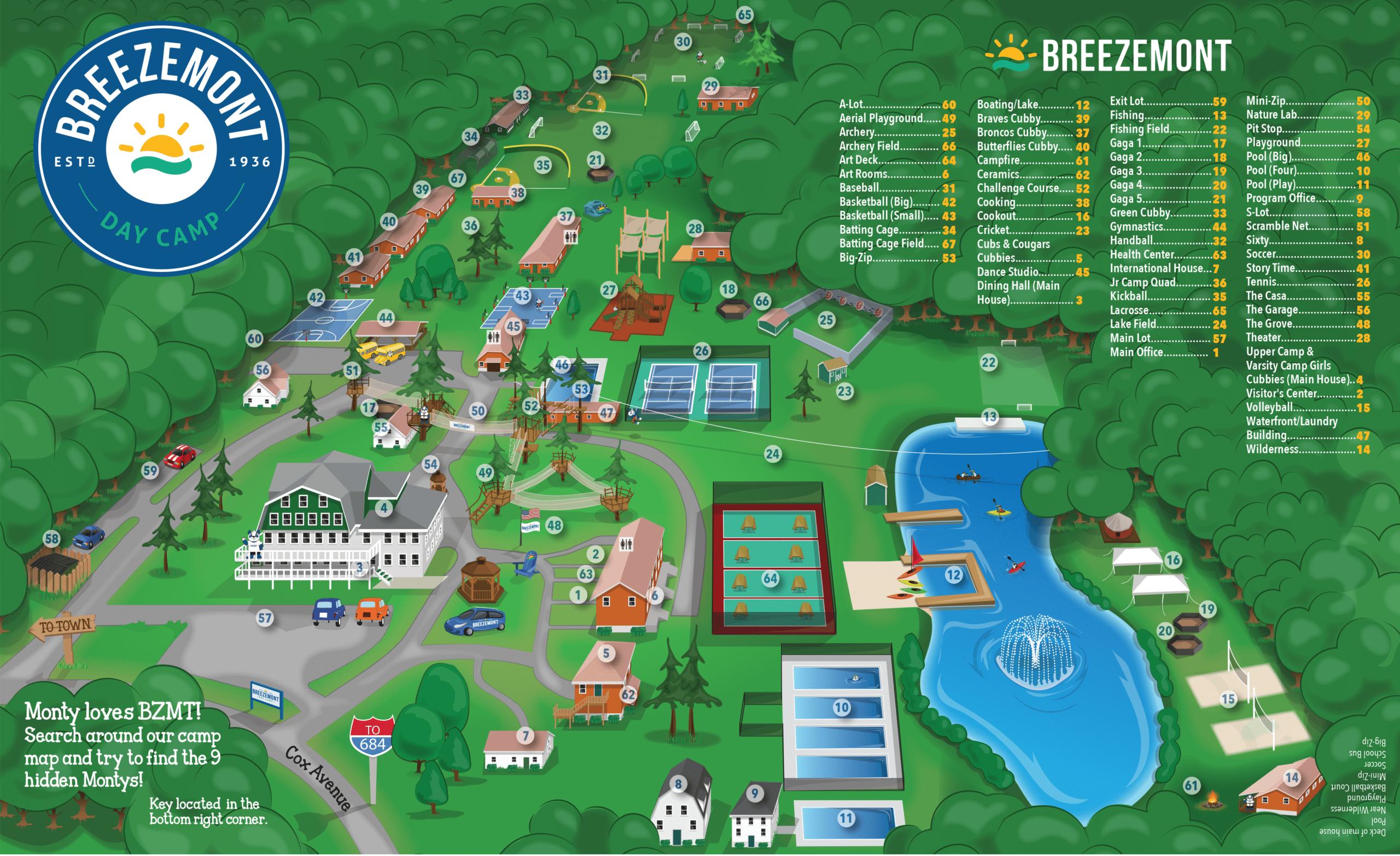 Breezemont camp map.