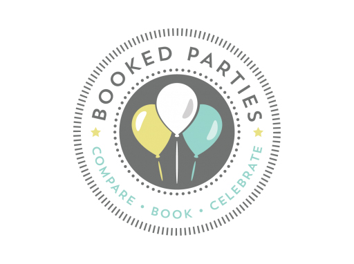 Booked parties logo linking the the booked parties website.