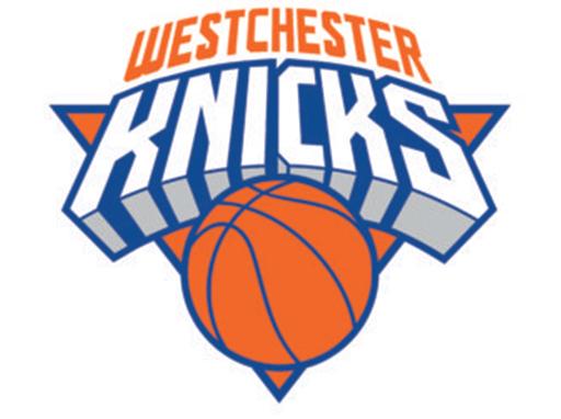 Westchester knicks logo linking to the westchester knicks website.